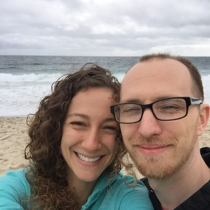 My love and I on Laguna Beach.